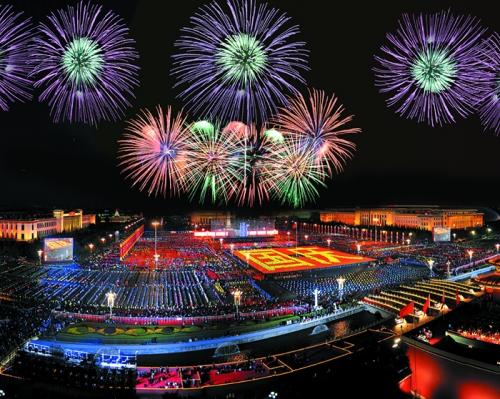 2009国庆60周年焰火燃放